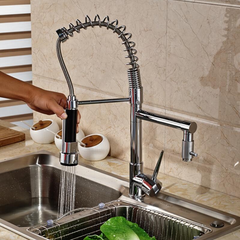 Deck-Mount-Single-Lever-Kitchen-Mixer-Faucet-One-Hole-Spring-Swivel-Spout-Mixer-Tap-Chrome-Finish (3)