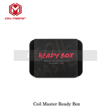 Autentic Coil Master Ready Box for Coil rebuildable Coil building Fused Clapton/Clapton Parallel/Triple Clapton With Pure Cotton(China)