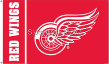 NHL Detroit Red Wings Flag 3x5 FT 150X90CM Banner 100D Polyester flag 1109, free shipping