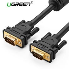 Ugreen 1080P VGA Cable VGA to VGA Flat Cable Male to Male Black Braided Shielding High Premium HDTV VGA Cabo 1m 1.5m 2m 3m 5m 8m