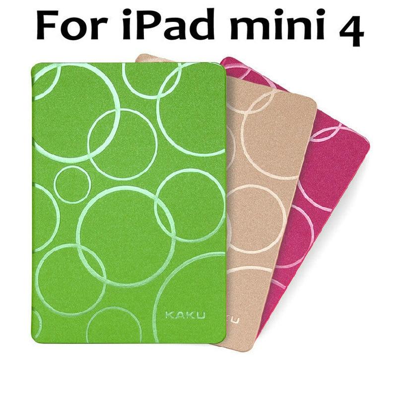 New Original KAKU HQ  Ultrathin  circle Leather Case For iPad mini4 Smart Cover wakeup/sleep case for ipad mini 4+free film<br><br>Aliexpress