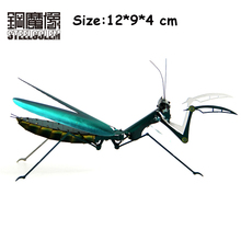 Color DIY Animal Machine Insect Mantis 3D Metal Model Puzzle Jigsaw Education Desktop Display Toys New Year Gift For Adult Kids(China)