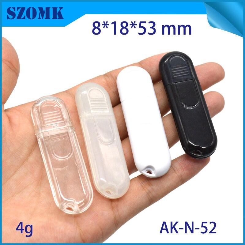 szomk plastic box for electronic usb control box diy small usb stick enclosure project box plastic housing usb stick flash drive instrument case (10)