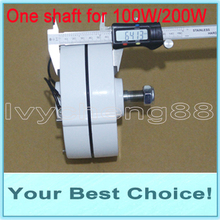 100W AC12V/24V Low RPM WIND TURBINE GENERATOR PERMANENT MAGNET ALTERNATOR (DHL Free Shipping)(China)