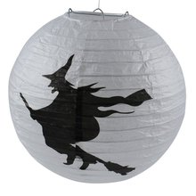 Halloween Paper Pumpkin Witch Spider Hanging Lantern Light Lamp Party Decoration Hot Sale(China)