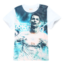 Boys t shirt brand Children clothing short sleeve Real baby clothing Madrid summer kids tops Football T-shirt Football