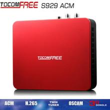 Satellite TV Receiver receptor de satelite sks iks TocomFREE S929+usb wifi IPTV TWIN TUNER vs tocomfree mini S929 Plus