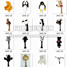 Golf Wood Club Hugger Head Cover golf Cartoon animal headcovers Hundreds of styles to choose Mixed style wholesale 50pcs/lot