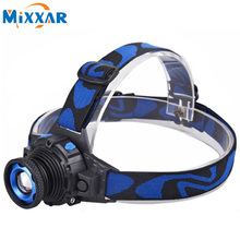 RUzk20 Cree Q5 LED Frontal Led Headlamp Headlight Flashlight Rechargeable Linternas Lampe Torch Head lamp Build-In Battery
