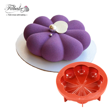 8 Petals Circular Wine Red Silicone Mousse Pan Cake Mold Baking Decorating Tools Non Stick 1000ML