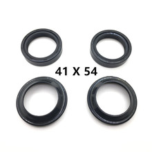 Yecnecty 4PC/Set 41x54 Motorcycle Front Fork Dust Seal+Oil Seal Scooter Shock Absorber Parts For Honda CBR600SJR SE RR F3 F2