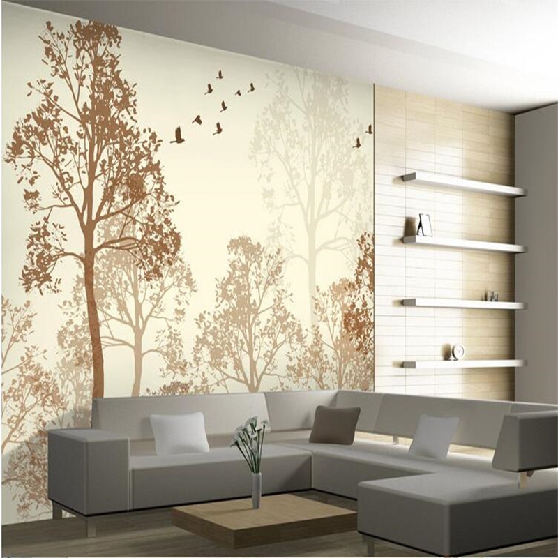photo wallpaper flash Classic simplicity hazy beauty bird tree Art wall paper wall mural wallpaper painting for living room<br><br>Aliexpress