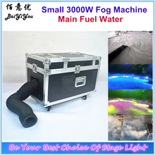 Good Quality Small Size 3000W Water Mist Low Lying Fog Smoke Machine DMX Remote Controlled Water Fog  Stage Effect Mach