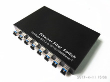 10 ports Gigabit Ethernet Optical Fiber Switch 1310nm with 8 SFP ports and 2*10/100/1000Mbps RJ45 Gigabit switch