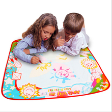 Aqua Doodle Children 70X70cm Baby Kids Add Water with 2Pcs Pen Doodle Painting Picture Drawing Play Rug Russian Board