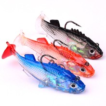 1PC 3D Fish Lifelike PVC Silicone Soft Lures Worm Fishing Baits Bass Trout Shad Bait Crank Swim 8.5cm 15g
