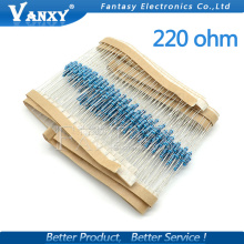 200PCS 220 ohm 220R 1/4W Metal film resistor  1%