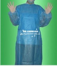10pcs Disposable medical surgical clothes light blue non-woven cloth sterile peritoneal work surgical gown(China)
