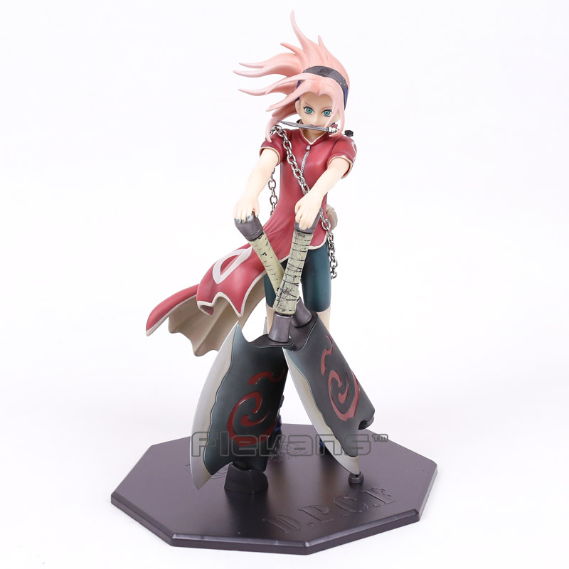 Naruto Shippuden Haruno Sakura Reviving Sharingan PVC Figure Collectible Model Toy 25cm<br>