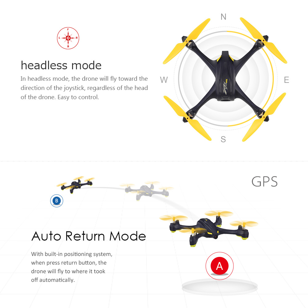 Hubsan X4 H507A Star Pro 720P Camera Drone Wifi FPV RC Quadcopter Follow Me Mode Way Point GPS One-Key Return RC Selfie Drone (11)