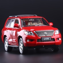 High Simulation Exquisite Diecasts & Toy Vehicles: Caipo Car Styling LEXUS LX570 Luxury Off-Road SUV 1:32 Alloy Diecast Model(China)