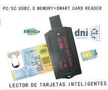 USB Smart Card Reader pc/sc scr80 support SD(7 in 1)  micro SD MS(3 in 1) M2 SIM iso7816 ic Smart Card  with SDK card reader