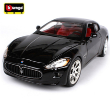 Maisto Bburago 1:24 Maserati GT Gran Turismo Diecast Model Car Toy With New In Box For Kids Birthday Gifts Free Shipping
