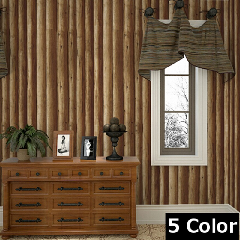 wallpaper Luxury Vintage Natural Rustic Emboss Grained Effect Wood/Tree Panel Plank Vinyl Waterproof 3D Wallpaper papel de pared<br><br>Aliexpress