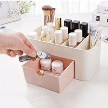 2 Colors Cosmetic Jewelry Organizer Plastic Storage Cabinets Non-slip Bottom Small Drawer Storage Box Dressing case(China)