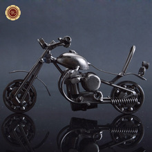 Wrought Iron Motorcycle Model Ancient Style Motorbike Crafts Adornment Arts Personalized Postmodern Decoration