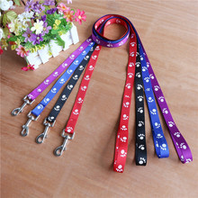Factory Direct Sell Paw Print Dog Puppy Pet Walking Leash Adjustable 3 Colors 3 Sizes Nylon Material Drop shipping