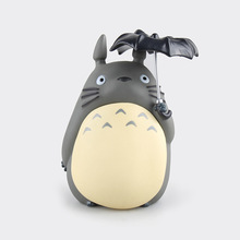 Anime My Neighbor Totoro Umbrellas bank PVC Action Figure Collectible Model Toy Birthday boys and girls Christmas gifts 20cm