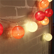 (Rose Pink Tone ) Romantic Garland Led string light Battery cotton ball lights lamp for Valentine's Day Wedding Party Layout