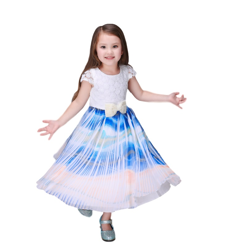 2017 Europe High Quality Maxi Dresses For Kids Clothes For Girls Age 2-5 6 7 8 9 Fashion Princess Party Monsoon Girl Dress<br><br>Aliexpress