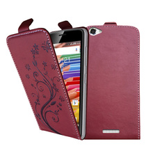 3D Stereo Embossing lace flower butterfly flip up and down leather phone bag cover case for Highscreen Power Ice Evo