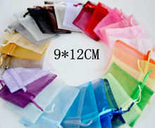 Wholesale Organza Bag 9x12cm,Jewelry Packaging Pouches,Wedding Gift Bags,Multi Colors,100pcs/lot,Free Shipping