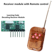 433 Mhz Remote Control and 433Mhz Wireless Receiver Learning Code 1527 Decoding Module 4Ch output With Learning Button