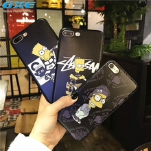 GXE Cool Cartoon Simpson Patterned Case For iphone 6 6S Phone Cases Fashion Cartoon Back Cover Capa For iPhone6 6S 4.7 inch