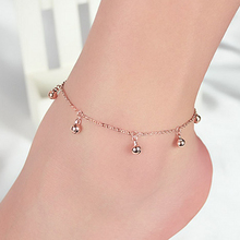 New Fashion  little bell  gold anklet For Women Exquisite wedding jewelry gift   JK068