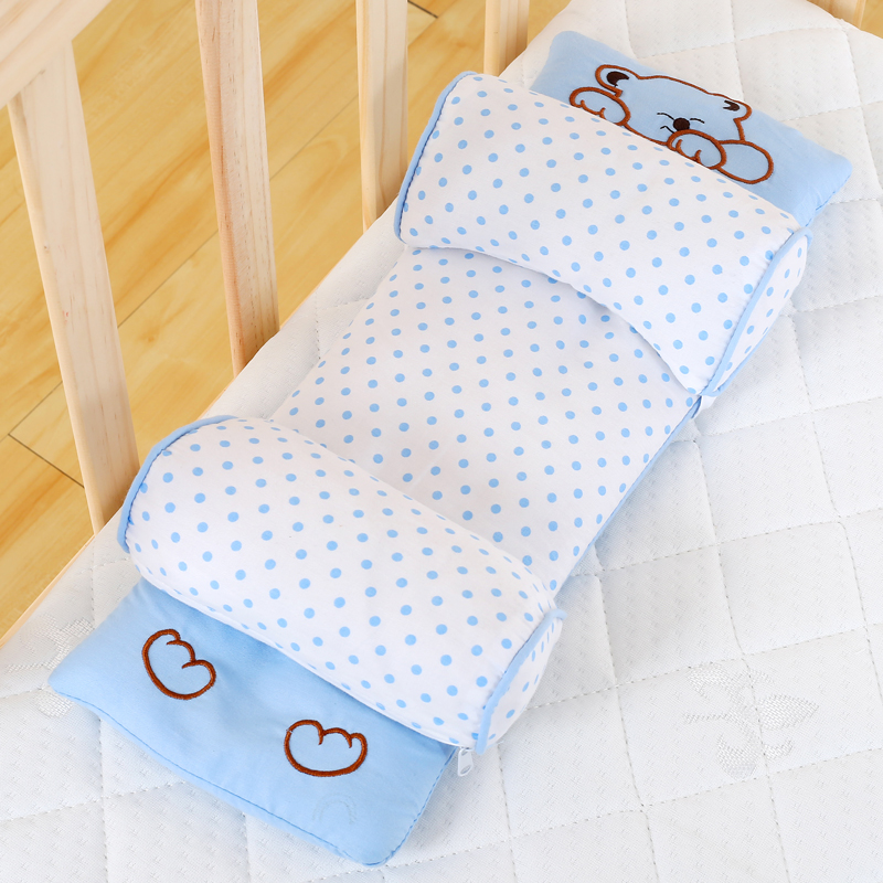 Newborn Infant Baby Buckwheat Shaping Pillow Anti Roll Prevent Flat Head Support Positioner 0~36 Months