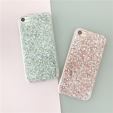 LANCASE Smartphone Case Coque for iPhone 8 Case Silicone Bling Glitter TPU Crystal Sparkles Soft Cover Fundas for iPhone 8 Plus(China)