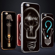 Creative Bulb 3D Print Phone Case Cover for iPhone 6 6S 7 Plus