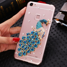 High Quality Diamond Bling Peacock Camellia Pattern Cell Phone Case Cover For XiaoMi Mi RedMi Pro/Redmi Note4/Note 3/Note 2