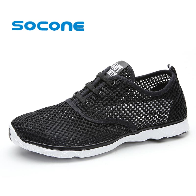 Socone Plus Size Men Summer Running Shoes Women Sneakers 2016 Mesh Breathable Sport Shoes Men Beach Water Shoes WomensTrainers<br><br>Aliexpress