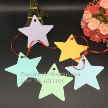 60pcs Laser Cut Star Tags Wishing Tree Gifts Message Card Label Card Wedding Party Decoration Supplies Free Shipping(China)