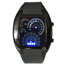 2016 hot sale new version car speed aviation design military style led instructions men fashion digital watch