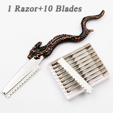 Hot Japan Stainless Steel Professional Sharp Barber Razor Blade Hair Razors Cut Hair Cutting Thinning Knife Salon Tools Art(China)