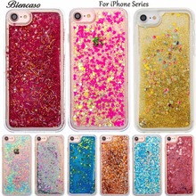 Glitter Stars Dynamic Liquid Quicksand Soft TPU Case for iPhone 4S 5S SE 5C 6S 6 7 iPhone7 Plus iPod touch 5 6 Cover Coque B31(China)