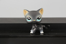 Lovely Pet Collection LPS Figure Toy Black Short Hair Siamese Cat Blue Eyes #994 Nice Gift Kids