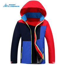 Boys & girls child jacket hiking Outdoor soft shell Camping sports coat fishing tourism mountain jackets waterproof Windproof(China)
